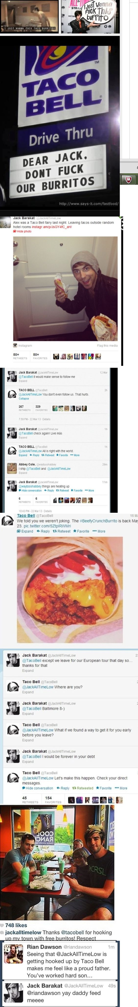 "Jack Barakat and Taco Bell love affair that started with ""I just wanna fuck this burrito."""