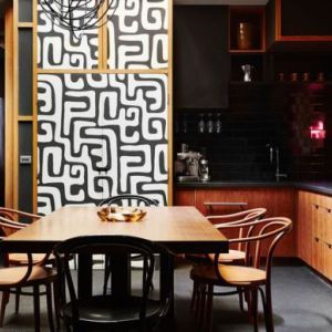 modern oriental kitchen ideas with Chinese wall decoration