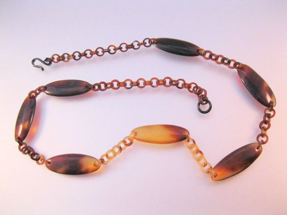 Vintage Lucite Faux Tortoise Shell Choker Necklace 1950s Costume Jewelry Jewellery by BrightEyesTreasures on Etsy https://www.etsy.com/listing/291109997/vintage-lucite-faux-tortoise-shell