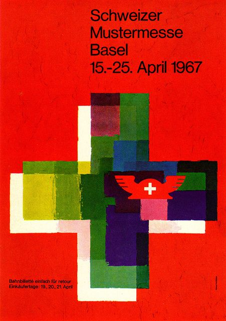 Simone Hell-Bühler illustration, poster for the 1967 Swiss Industries Fair