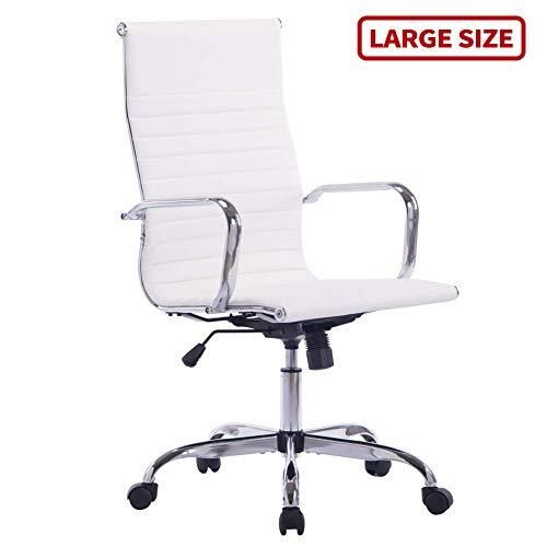 Sidanli White Desk Chair High Back Executive Office Chair In 2020