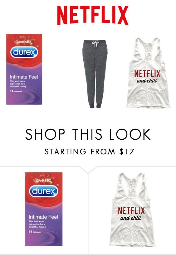 """""""netflix and chill starter pack"""" by skylar-atwell ❤ liked on Polyvore featuring Topshop"""