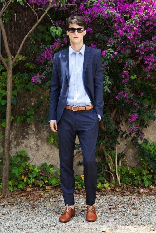 Blue Suit With Brown Shoes My Style Pinterest Shoe And Stylish Men