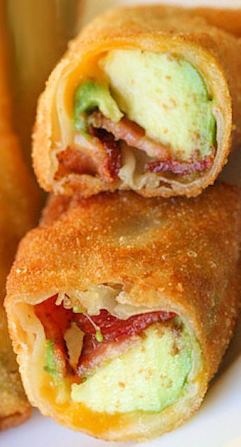 Bacon egg, Egg rolls and Bacon on Pinterest