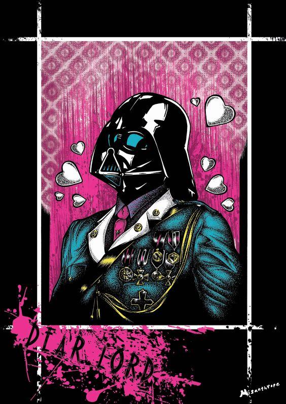 """""""My Lord"""" Affiche originale, créée à partir d'une dessin Noir et Blanc retravaillé sur ordinateur. Entre art illustratif et peinture numérique, cette affiche aux allures de tatouage est disponible en format A3 où sur commande en format: 40*60 cm à 16€ et 80*120 cm à 40 euros."""
