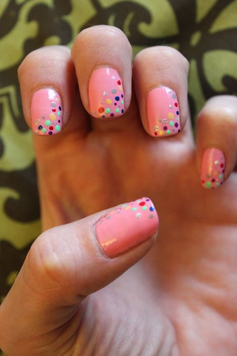 pink and dots