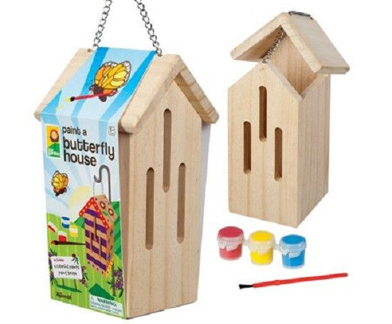 Paint A Butterfly House - Wooden Garden Craft Kit byToysmith This sturdy wooden…