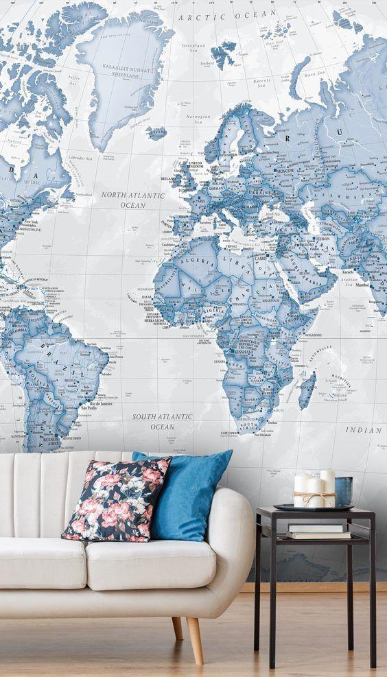 Wall Murals Wallpaper Murals Wallsauce Uk World Map Wallpaper Map Wallpaper Wallpaper Lounge