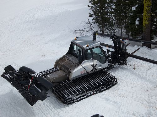 Prinoth Bison X snow groomer at Sierra at Lake Tahoe ...