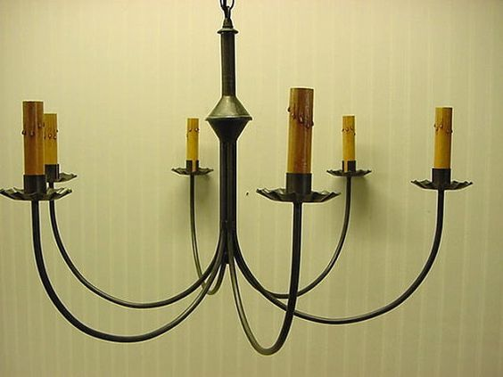 Vanity Light Wood Metal With Punched Tin Lamp Shades: Old Vintage Early American Antique Rustic Colonial