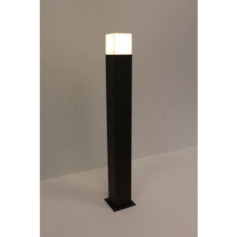 Strakke Buitenlamp Block Paal Groot Antraciet Buitenlamp Led Lamp Buitenlampen