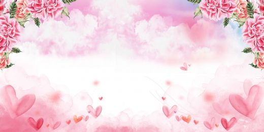 Womens Day Romantic Heart Shaped Pink Fantasy Background V 2020 G
