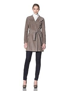 Dawn Levy suede trench (sable)