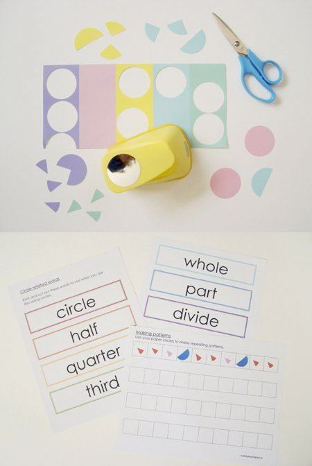 {Learning with Circles} Great collection of fun-educational activities