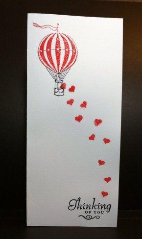 Hot Air Balloon Card - semplice ma d'effetto