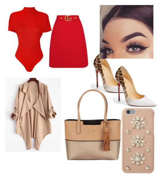 """""""all red"""" by fashionista-mafia ❤ liked on Polyvore featuring WearAll, Gucci, Christian Louboutin, Calvin Klein, MICHAEL Michael Kors and plus size clothing"""