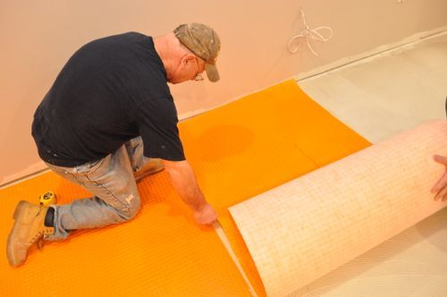 How To Install Schluter Ditra Tile Underlayment Underlayment Installation How To Lay Tile