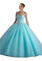 aqua ball gown prom dresses , sweetheart neckline , sweet 15 birthday party dresses , corset ,lace up , sparkly bling rhinestones ,tulle , quinceanera dresses ball gown cheap ,2016,new