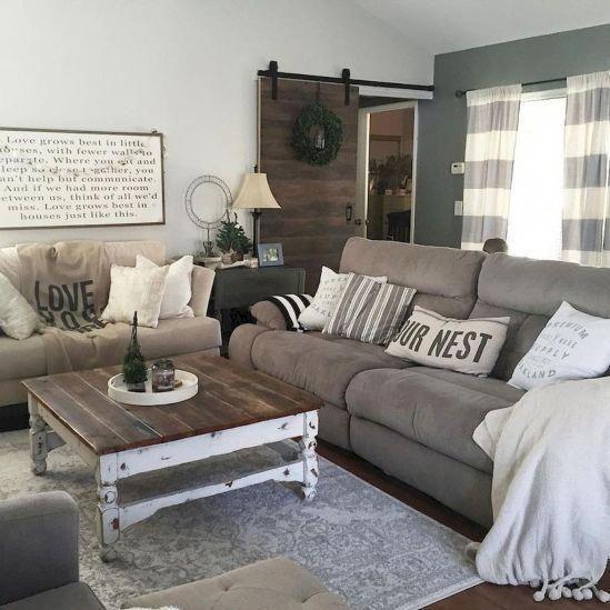 20 Cozy Farmhouse Living Room Makeover Decor Ideas Homedecorlivingroomcozy Decoracion De Salas Decoracion De Interiores Interiores De Casa