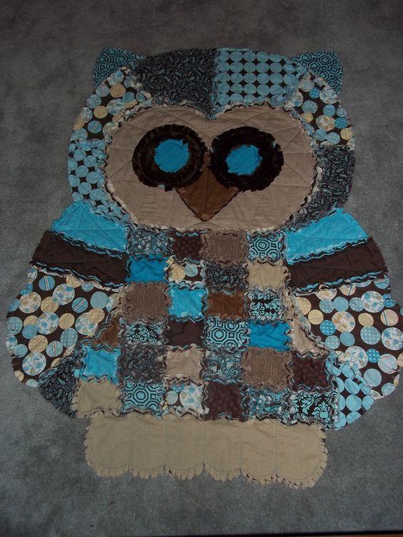 Rag Quilt Owl Pattern : Hoot the Owl Rag Quilt by GrannyArlenasAttic on Etsy C r a f t s Pinterest Rag quilt, Etsy ...