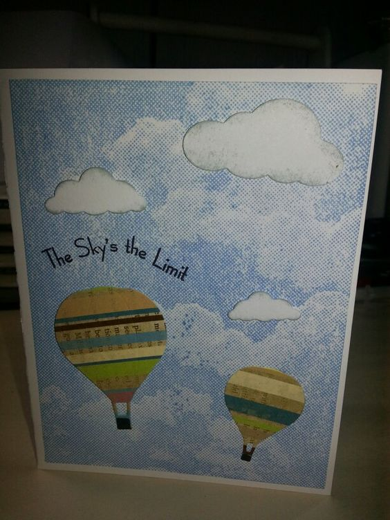 Balloon card made during Make N Take at Stamp  Delivered.