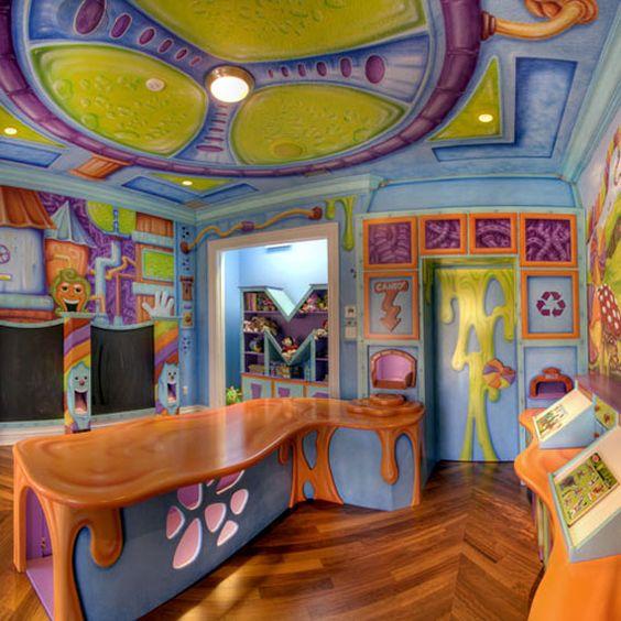 Willy Wonka's Chocolate Factory play room...NEAT!