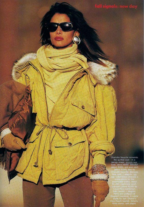 "Kara Young US Vogue July 1989 ""New Day"" Photo Patrick Demarchelier Editor Carlyne Cerf de Dudzeele"