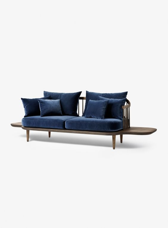 Fly sofa with side tabels sc3 sofas andtradition - Fly table console ...