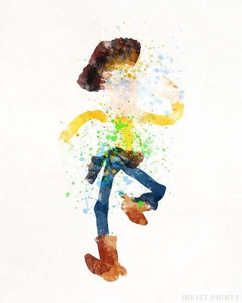 Toy Story Print Woody Poster Toy Story Art Woody Watercolor