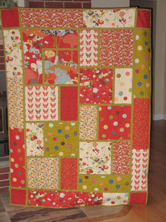 Quilt Pattern With Different Size Blocks : Queen size, Patterns and Fabrics on Pinterest