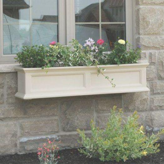 Mayne 48 Inch Rectangle Polyethylene Fairfield Window Box