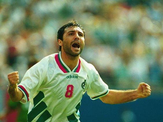 Celebrando un gol en el Mundial 94
