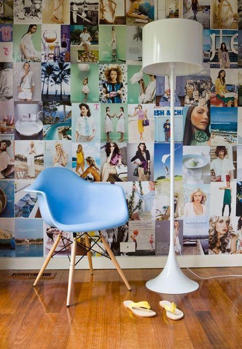 Decoreer je muur met oude tijdschriften en kranten - Roomed | roomed.nl