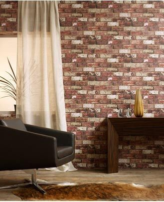 Gritty wall finishes not often associated with interior wallpaper. This paper reinforces the current trend for wallpaper as a practical and functional option for home decorating whether looking for an