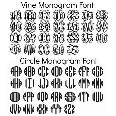 Free Circle Monogram Fonts Download Monogrammed                                                                                                                                                     More