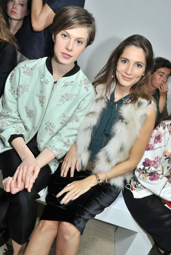 Elettra Wiedemann and Astrid Munoz Front Row at Giambattista Valli  [Photo by Stéphane Feugère]