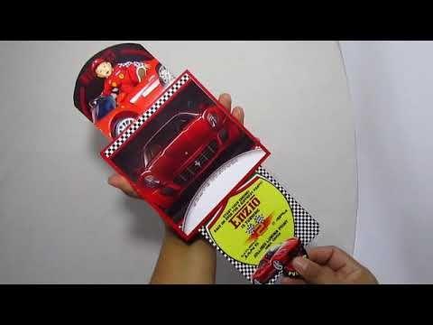 Red Ferrari Double Slider Invitation Card Invitation Cards Invitation Card Design Invitations