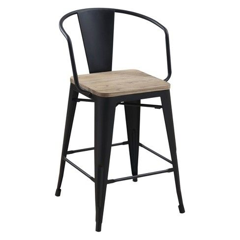Gregg Industrial Counter Height Chair Iohomes Solid Wood