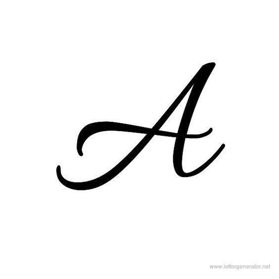 Allura Font Alphabet A Cursive Tattoos Cursive Letters Fancy Fonts Alphabet