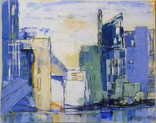 """Philippin, Inge, """"New York, New York"""" (13) Mit einem Klick auf 'Als Kunstkarte versenden' versenden Sie kostenlos dieses Werk Ihren Freunden und Bekannten."""
