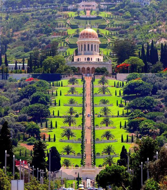 haifa bahai gardens and bahai temple israel pinterest