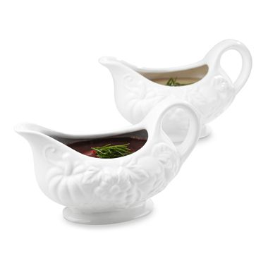 Ceramic Harvest 16 Ounce Gravy Boat (Set of 2)