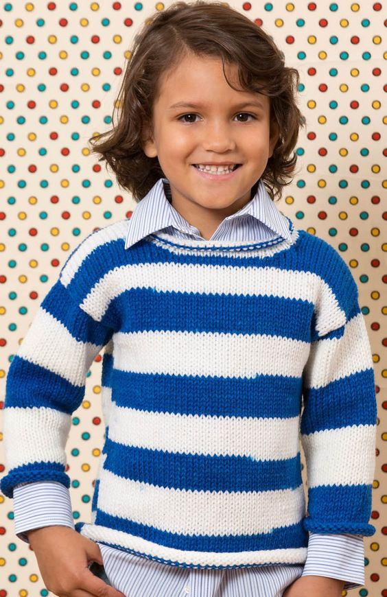 Kids Knit Sweater Free Knitting Pattern Knit with Jo-Ann Pinterest Kn...