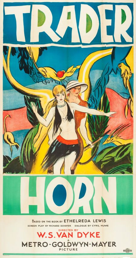 Trader Horn (1931) - US Three Sheet | Great Movie Posters ... Horns Movie Poster