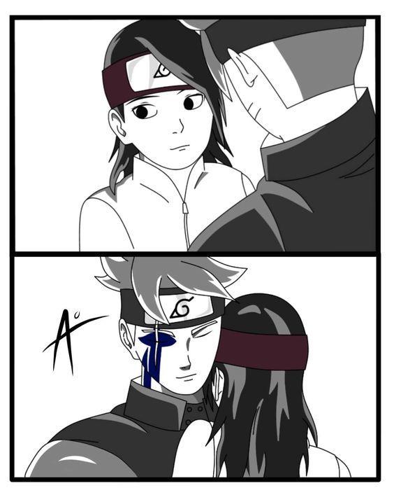 Boruto X Sarada Boruto Sarada Anime Naruto Naruto