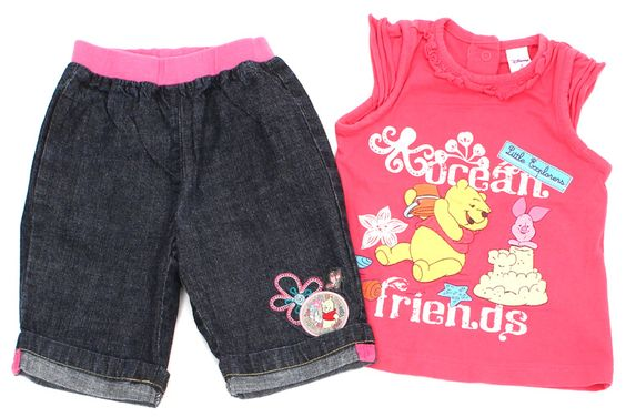 3/4 Jeans und Top der Marke Disney by C&A in Gr. 80
