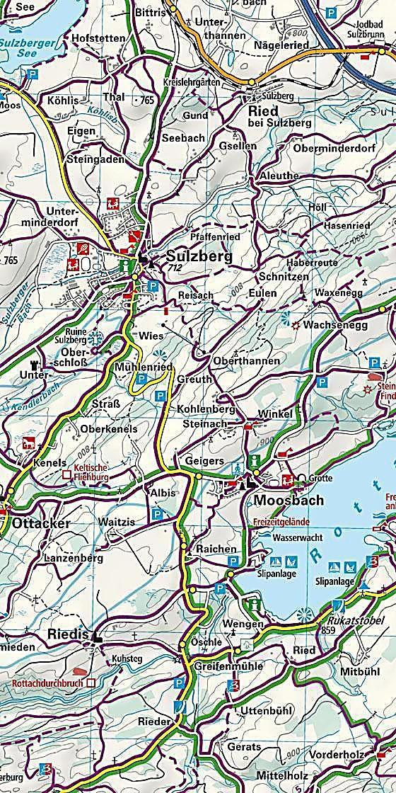 Kempten Allgau Und Umgebung Immenstadt Bad Gronenbach Karte