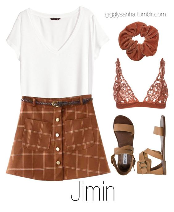 """Zoo // Jimin"" by suga-infires ❤ liked on Polyvore featuring H&M, All That Remains, Chicnova Fashion and Steve Madden"