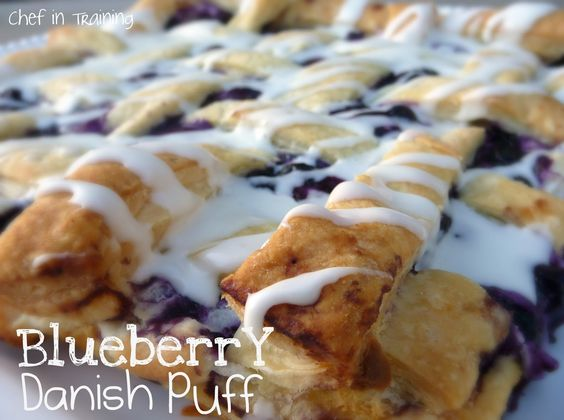 Blueberry Danish Puff! Super easy and one of my families absolute favorite recipes!