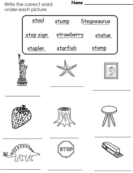 st blend worksheet   Education Station   Pinterest   Worksheets